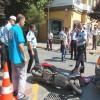 Bandırma'da motosiklet kazası