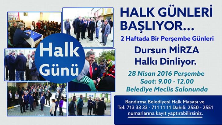 HALK GÜNLERİ BAŞLIYOR