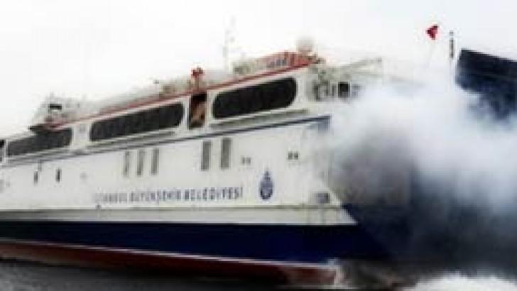 Hava muhalefeti sebebiyle İDO seferleri iptal edildi