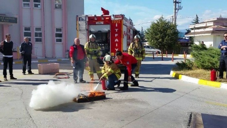 Kazdağı Devlet Hastanesi  Personeline Yangın Eğitimi
