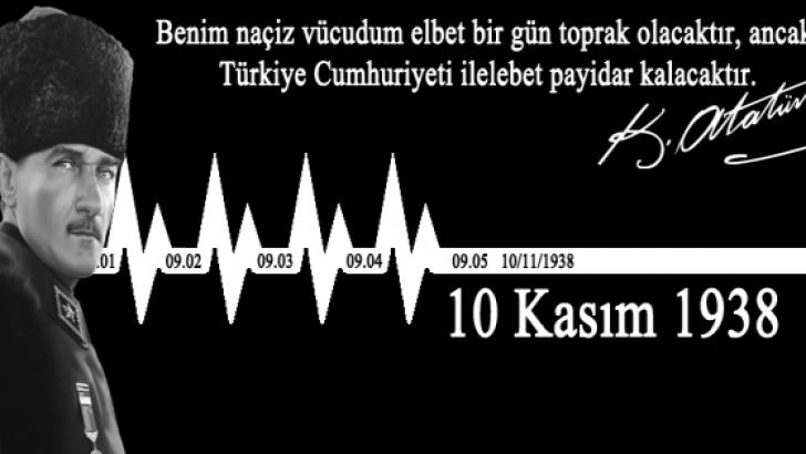 """Ulu Önder Atatürk'ümüzü, ölümünün 78. Yılında bir kez daha sevgi, saygı ve rahmetle anıyoruz."""""""