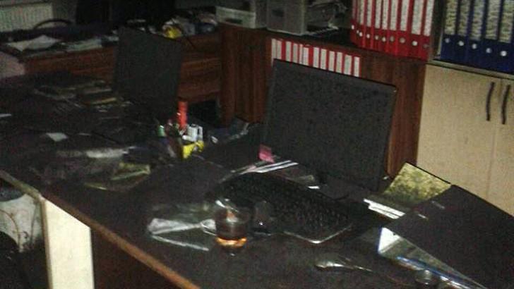 Büroda Çıkan Yangın Korkuttu