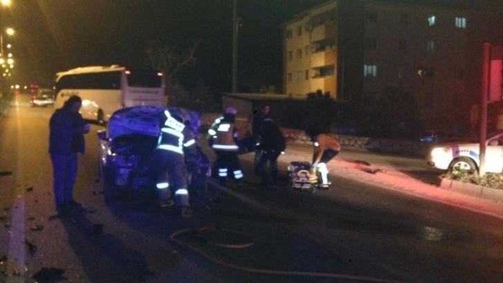 Bandırma'da Trafik Kazası : 3 Yaralı