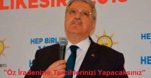 """AK Parti Genel Başkan Yardımcısı Demiröz: """"Öz İradenizle Tercihlerinizi Yapacaksınız"""""""
