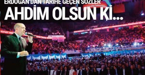 Cumhurbaşkanı Erdoğan açıkladı! İşte Tarihi Manifesto