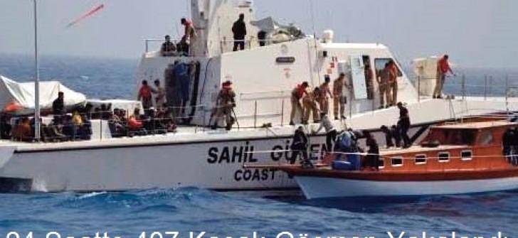 24 Saatte 407 Kaçak Göçmen Yakalandı