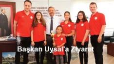 Minik Satranç Ustalarından Başkan Uysal'a Ziyaret