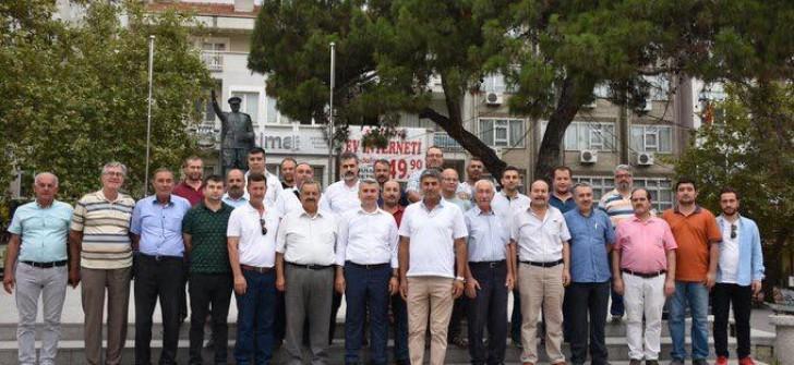 Edremit ve Burhaniye'de  Ak Parti coşkusu