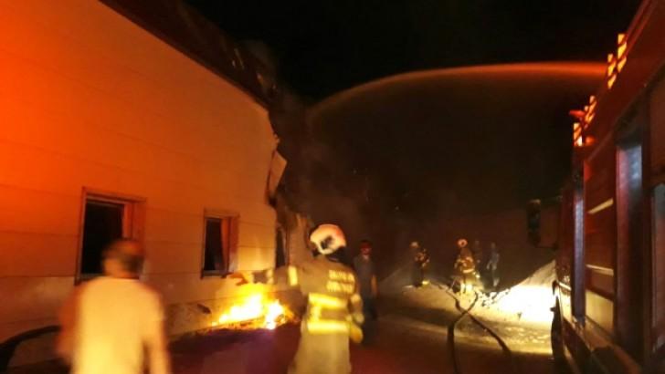 Devlet Hastanesinde Yangın