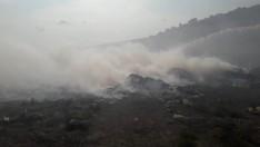Erdek Çöplüğü'ndeki Yangın Ormana Sıçradı