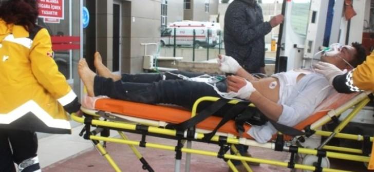 Ayvalık'ta Patlama: 1 Yaralı